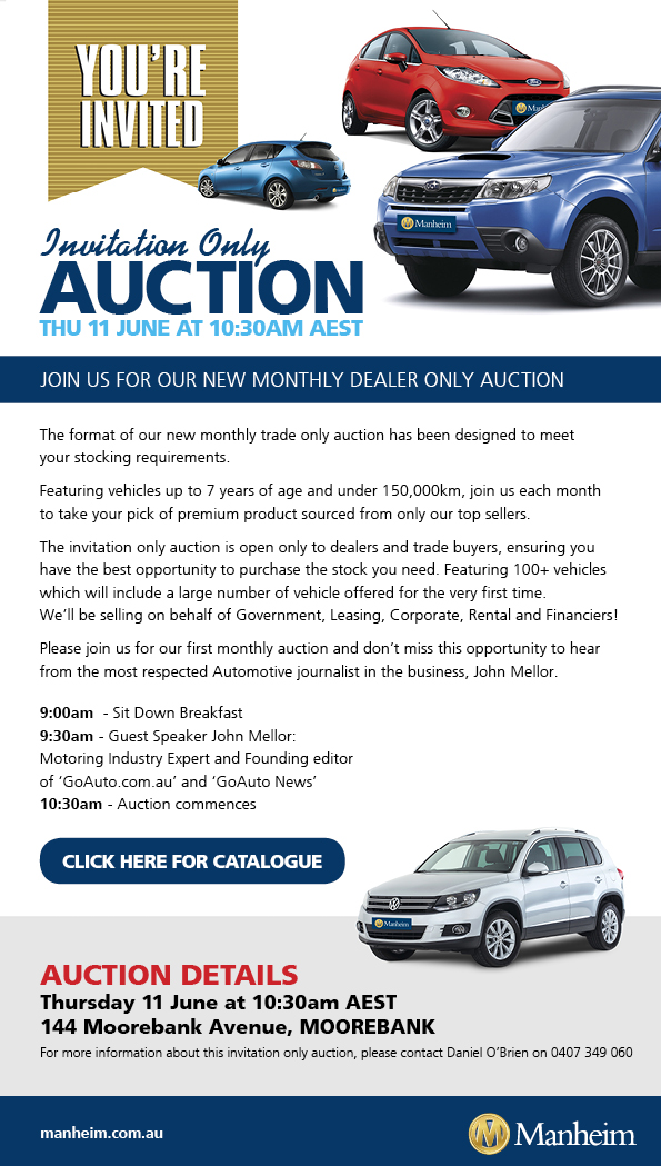 Sydney Dealer Only Car Auction Manheim