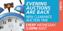 New clearance auction time