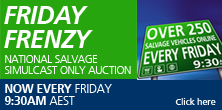 National Salvage Simulcast Only Auction Every Friday