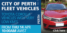 city of perth fleet vehicles available for sale at Manheim Auctions Perth