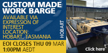 Custom made work barge